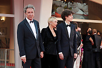 VENICE, ITALY - SEPTEMBER 11: Paolo Sorrentino, Daniela D'Antonio and Filippo Scotti attend the closing ceremony red carpet during the 78th Venice International Film Festival on September 11, 2021 in Venice, Italy. <br /> CAP/MPI/AF<br /> ©AF/MPI/Capital Pictures