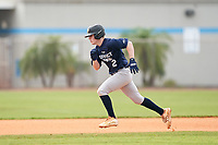 James Brooks (2) running the bases during the Perfect Game National Underclass East Showcase on January 23, 2021 at Baseball City in St. Petersburg, Florida.  (Mike Janes/Four Seam Images)
