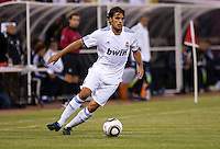 Pedro Leon controls the ball. Real Madrid defeated Club America 3-2 at Candlestick Park in San Francisco, California on August 4th, 2010.