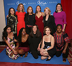 """First row: Francesca Fernandez McKenzie, Fedna Jacquet, Diane Paulus, Joanna Glushak, Patrena Murray Second row: Emily Mann, Christine Lahti, Gloria Steinem, DeLanna Studi, Daryl Roth and Liz Wisan attend the Opening Night Performance After Party for """"Gloria: A Life"""" on October 18, 2018 at the Gramercy Park Hotel in New York City."""