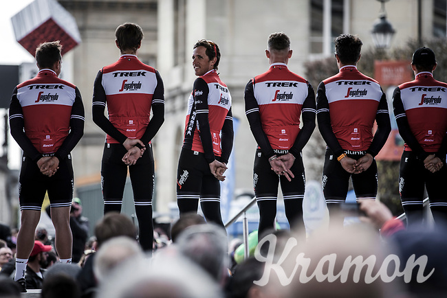 Team Trek Segafredo with  Koen De Kort (NED/Trek Segafredo)<br /> <br /> Team Presentation Saturday<br /> <br /> 117th Paris-Roubaix (1.UWT)<br /> 1 Day Race: Compiègne-Roubaix (257km)<br /> <br /> ©kramon