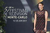 Paula PATTON - Photocall 'SOMEWHERE BETWEEN' - 57ème Festival de la Television de Monte-Carlo. Monte-Carlo, Monaco, 19/06/2017. # 57EME FESTIVAL DE LA TELEVISION DE MONTE-CARLO - PHOTOCALL 'SOMEWHERE BETWEEN'