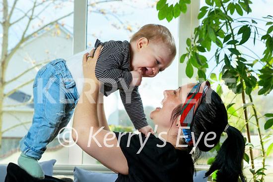Caroline Weeks with her son Noah.