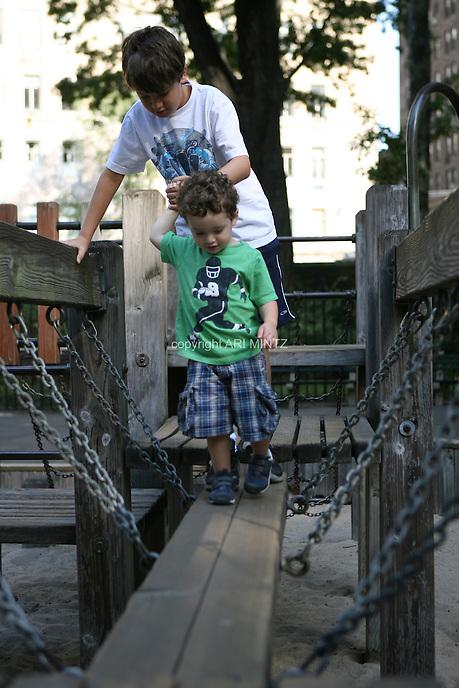 Zeke and Joseph.  Photo by Ari Mintz.  8/3/2011.