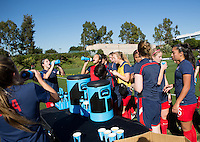 Carson, CA.  - February 15, 2016: The U.S. Women's U-17 National team defeated Japan 2-1 to win the 2016 Women's Nike Friendlies at StubHub Center's Mooch field.