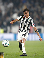 Football Soccer: UEFA Champions League Juventus vs Sporting Clube de Portugal, Allianz Stadium. Turin, Italy, October 18, 2017. <br /> Juventus' Paulo Dybala in action during the Uefa Champions League football soccer match between Juventus and Sporting Clube de Portugal at Allianz Stadium in Turin, October 18, 2017.<br /> UPDATE IMAGES PRESS/Isabella Bonotto