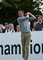 21.05.2015. Wentworth, England. BMW PGA Golf Championship. Round 1.  Jason Levermore [ENG] on the first tee during the first round of the 2015 BMW PGA Championship from The West Course Wentworth Golf Club