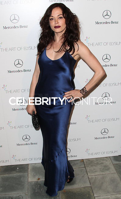 LOS ANGELES, CA - JANUARY 11: Rose McGowan at The Art of Elysium's 7th Annual Heaven Gala held at Skirball Cultural Center on January 11, 2014 in Los Angeles, California. (Photo by Xavier Collin/Celebrity Monitor)