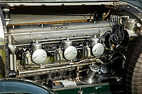 BNPS.co.uk (01202 558833)<br /> Pic: Bonhams/BNPS<br /> <br /> Pictured: The engine.<br /> <br /> A classic 1926 Bentley owned by Pink Floyd's former manager Steve O'Rourke is tipped to sell for a staggering £600,000.<br /> <br /> The immaculate six and a half litre tourer with dark green paint work and a leather interior was added to his extensive collection in 1980.<br />  <br /> As well as being a famous manager, he was a prolific motor-sport enthusiast known for racing with band members including drummer Nick Mason and guitarist David Gilmour.