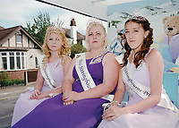 """Queen of Sittingbourne, Georgia Lane accompanied by Princess Ashleigh Taylor, and Princess Kendle Hunter.<br /> <br /> 'The girls were interviewed privately at the beginning of the evening by a panel of judges consisting of the Mayor of Swale, Councillor Sue Gent, Councillor Ben Stokes and Asdaís community life champion Claire Fosbeary who is also a former town queen."""""""