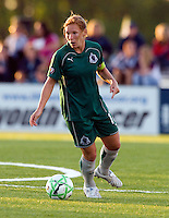 St Louis Athletica midfielder Lori Chalupny (17) handles the ball during a WPS match against the FC Gold Pride at Korte Stadium, in Edwardsville, IL, May 9 2009.  Athletica won the match 1-0.