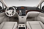 Stock photo of straight dashboard view of 2017 Nissan Quest S 5 Door Minivan Dashboard