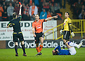 :: DUNDEE UTD'S SEAN DILLON RECEIVES A RED CARD :: .19/04/2011   Copyright  Pic : James Stewart.sct_jsp008_dundee_utd_v_rangers .James Stewart Photography 19 Carronlea Drive, Falkirk. FK2 8DN      Vat Reg No. 607 6932 25.Telephone      : +44 (0)1324 570291 .Mobile              : +44 (0)7721 416997.E-mail  :  jim@jspa.co.uk.If you require further information then contact Jim Stewart on any of the numbers above.........