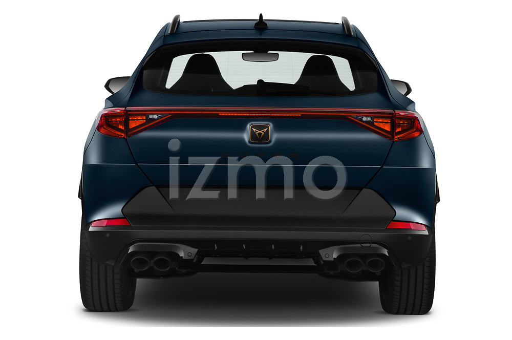 Straight rear view of 2021 Cupra Formentor - 5 Door SUV Rear View  stock images