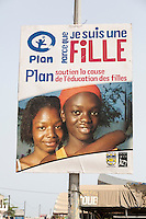 Senegal, Saint Louis.  Public Advertisement Promoting Education for Women.