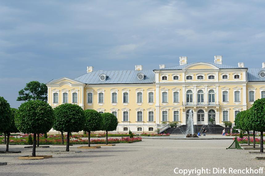 Schloss Pils Rundale bei Bauska, Lettland, Europa