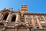 Facade of the 5th century Basilica Papale di Santa Maria Maggiore in Rome, Italy