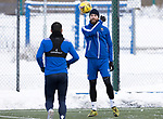 St Johnstone Training…<br />Shaun Rooney pictured with Craig Conay during training ahead of Sundays game against Celtic.<br />Picture by Graeme Hart.<br />Copyright Perthshire Picture Agency<br />Tel: 01738 623350  Mobile: 07990 594431