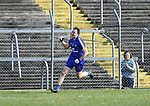 David Tubridy of Clare celebrates his early goal against Roscommon during their National League game at Cusack Park. Photograph by John Kelly.