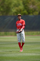 Philadelphia Phillies Malvin Matos (39) during a minor league Spring Training game against the Pittsburgh Pirates on March 24, 2017 at Carpenter Complex in Clearwater, Florida.  (Mike Janes/Four Seam Images)