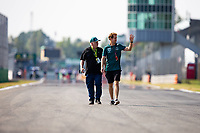 9th September 2021; Nationale di Monza, Monza, Italy; FIA Formula 1 Grand Prix of Italy, Driver arrival and inspection day:  VETTEL Sebastian ger, Aston Martin F1 AMR21