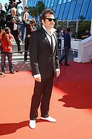 Matthieu CHEDID -M- sur le tapis rouge pour la projection de leur film Hors Competition, VISAGES, VILLAGES, lors du soixante-dixième (70ème) Festival du Film à Cannes, Palais des Festivals et des Congres, Cannes, Sud de la France, vendredi 19 mai 2017. Philippe FARJON / VISUAL Press Agency