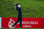 Nicole Broch Larsen of Denmark tees off at the 10th hole duringRound 1 of the World Ladies Championship 2016 on 10 March 2016 at Mission Hills Olazabal Golf Course in Dongguan, China. Photo by Victor Fraile / Power Sport Images