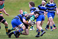 Jake Fowler in action during the Otago premier club rugby union match between Kaikorai and Green Island at Bishopscourt Park in Dunedin, New Zealand on Saturday, 4 July 2020. Photo: Joe Allison / lintottphoto.co.nz