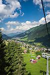 Austria, Vorarlberg, Kleinwalsertal, Hirschegg: with the double chair lift up to hiking area Heuberg | Oesterreich, Vorarlberg, Kleinwalsertal, Hirschegg: mit dem Doppelsessellift hinauf ins Wandergebiet Heuberg