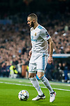 Karim Benzema of Real Madrid in action during the UEFA Champions League 2017-18 Round of 16 (1st leg) match between Real Madrid vs Paris Saint Germain at Estadio Santiago Bernabeu on February 14 2018 in Madrid, Spain. Photo by Diego Souto / Power Sport Images