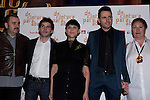 12.04.2012. Photocall invited to the premiere of  'From the waist down' at the Teatro Bellas Artes in Madrid. This funny and surprising comedy written and directed by Felix Sabroso and Dunia Ayaso, and starring Antonia San Juan, Luis Miguel Segui and Jorge  Monje. In the image Felix Sabroso, Jorge Monje, Antonia San Juan, Luis Miguel Segui and Dunia Ayaso (Alterphotos/Marta Gonzalez)