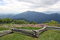 The mountain views from Wintergreen Ski Resort in the summertime located in Nelson, VA.