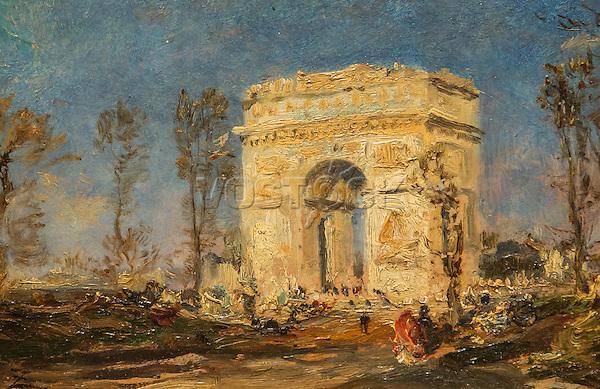 Arc de Triomphe by Felix Ziem (1821-1911)