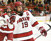 (Biega, Fallstrom) Alex Killorn (Harvard - 19) - The Harvard University Crimson defeated the visiting Yale University Bulldogs 8-2 in the third game of their ECAC Quarterfinal matchup on Sunday, March 11, 2012, at Bright Hockey Center in Cambridge, Massachusetts.
