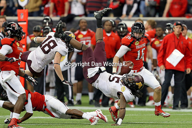 Minnesota Golden Gophers wide receiver MarQueis Gray (5) in action during the Meineke Car Care Bowl game of Texas between the Texas Tech Red Raiders and the Minnesota Golden Gophers at the Reliant Stadium in Houston, Texas. Texas defeats Minnesota 34 to 31.