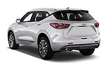 Car pictures of rear three quarter view of 2020 Chevrolet Blazer Premier 5 Door SUV Angular Rear