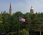 Jul. 3, 2012; South Quad flag..Photo by Matt Cashore/University of Notre Dame