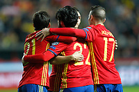 Spain's players celebrate goal during FIFA World Cup 2018 Qualifying Round match. March 24,2017.(ALTERPHOTOS/Acero) /NortePhoto.com