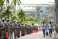 The army patrol the streets near Arena Fonte Nova