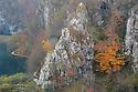 Korana Gorge at the Lower Lakes, Plitvice Lakes National Park, Croatia. November.