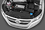 High angle engine detail of a 2010 Volkswagen Tiguan Wolfsburg SUV  Stock Photo