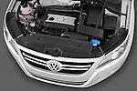High angle engine detail of a 2010 Volkswagen Tiguan Wolfsburg SUV  Stock Photo