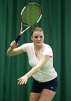 10-3-06, Netherlands, tennis, Rotterdam, National indoor junior tennis championchips, Evelien Strijker