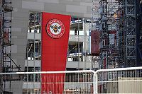 Work continues on the Brentford Community Stadium and the rest of the complex which will feature a number of flats. The actual stadium will be home to Brentford FC and London Irish during Brentford vs West Bromwich Albion, Sky Bet EFL Championship Football at Griffin Park on 26th June 2020