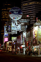 Toronto (ON) CANADA, April 21, 2007<br /> <br /> Yonge Street at Night<br /> <br />     photo by Pierre Roussel - Images Distribution  Toronto (ON) CANADA, April 21, 2007<br /> <br /> Giant Advertising billboard on Yonge Street at Night<br /> <br />     photo by Pierre Roussel - Images Distribution