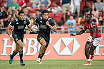 Regan Ware of New Zealand runs with the ball during the match New Zealand vs Kenya, Day 2 of the HSBC Singapore Rugby Sevens as part of the World Rugby HSBC World Rugby Sevens Series 2016-17 at the National Stadium on 16 April 2017 in Singapore. Photo by Victor Fraile / Power Sport Images