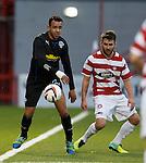 on loan Ranger Darren Cole with James Keatings of Hamilton