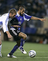 23 April 2005: Earthquakes' Dwayne De Rosario in action against Wizards at Spartan Stadium in San Jose, California.   Earthquakes defeated Wizards, 3-2.  Credit: Michael Pimentel / ISI