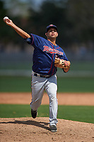 Minnesota Twins Miguel Gonzalez (65) during a minor league Spring Training intrasquad game on March 15, 2016 at CenturyLink Sports Complex in Fort Myers, Florida.  (Mike Janes/Four Seam Images)