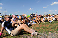 Members of Sky Blue FC watch the finals of the 2011 FIFA Women's World Cup prior to a Women's Professional Soccer (WPS) match between Sky Blue FC and the Western New York Flash at Yurcak Field in Piscataway, NJ, on July 17, 2011.